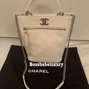 New Chanel Sac Cordon top handle bucket quilted